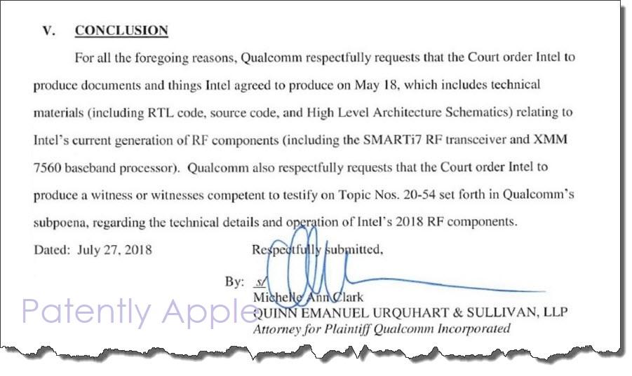 Qualcomm Files Motion Demanding Intel Blueprints on their