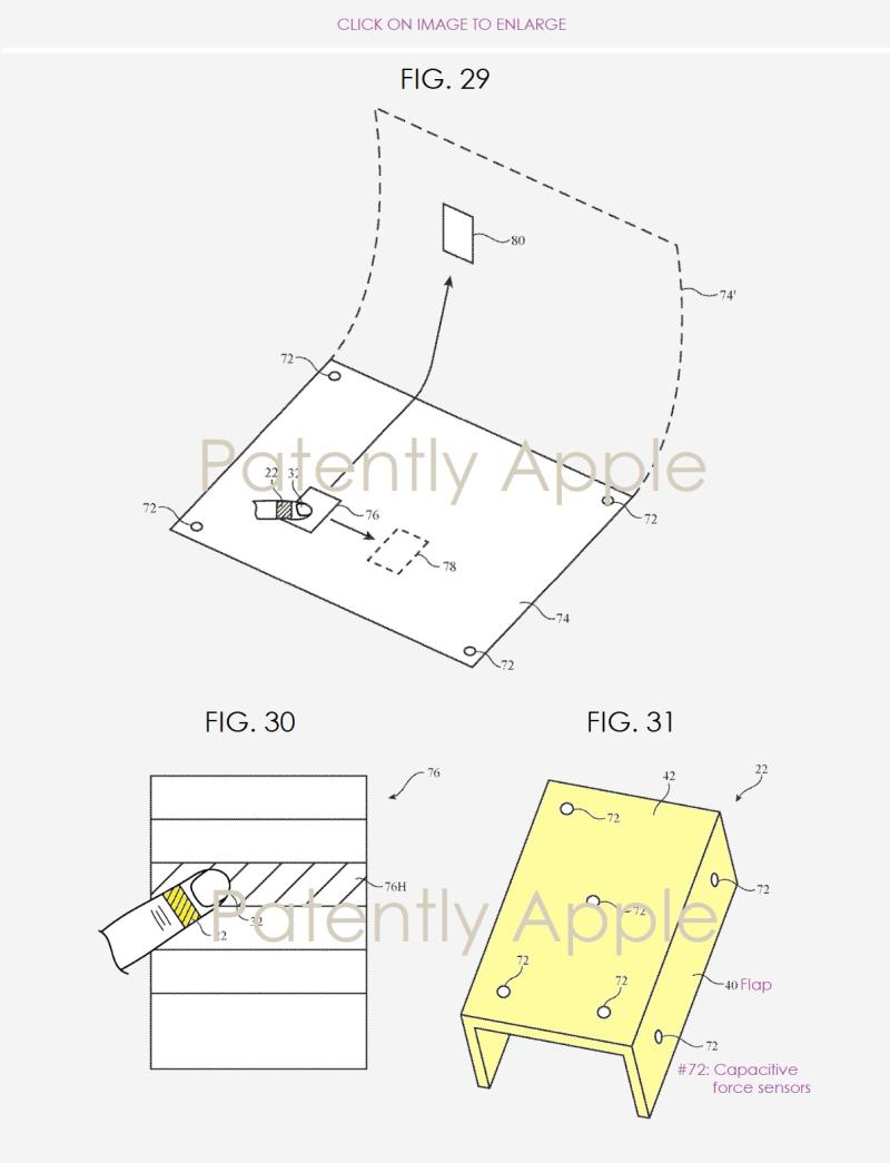 4 X  Apple patent figures  jan 3 2018 for finger apparatus