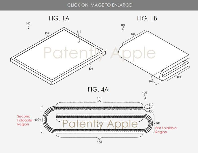 2 - Apple patent figures on a foldable display device - Aug 2   2018 - Patently Apple