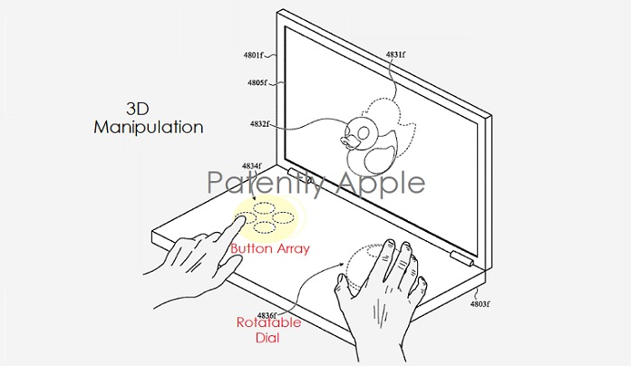 1 Cover Apple Patent dual display MacBook with Virtual UI's