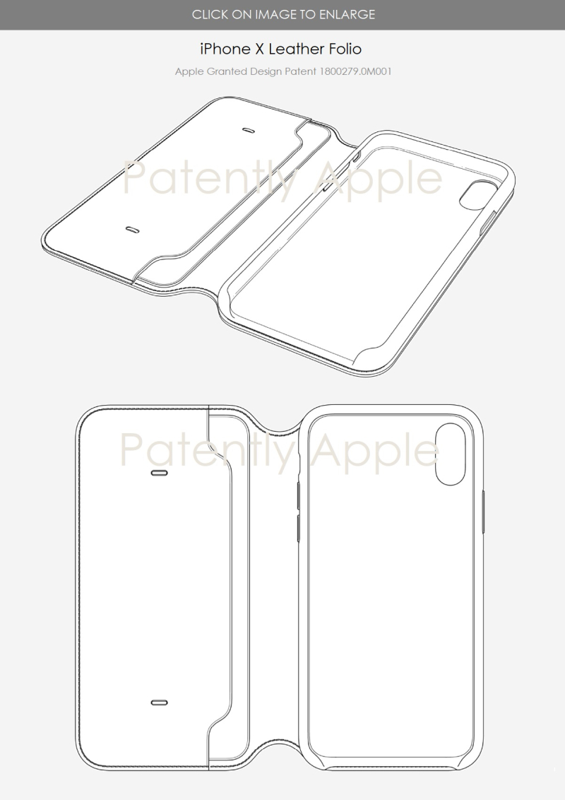 2 X full iphone x leather folio design patent hong kong aug 2018  patently apple report