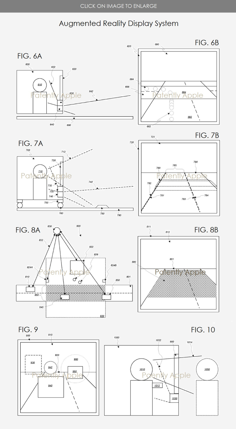 5 X FIGS 6A TO 11 APPLE AR WINDSHIELD PATENT