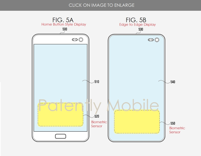 2 samsung ultrasonic patent figures from Patently Mobile report