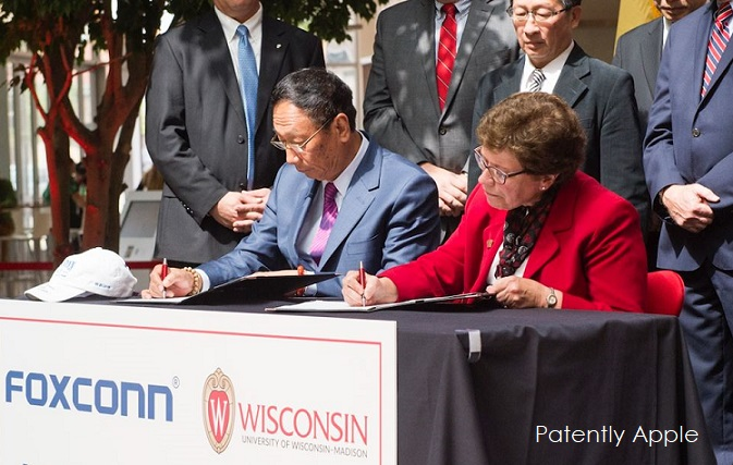 1 X cover foxconn wisconsin new agreement
