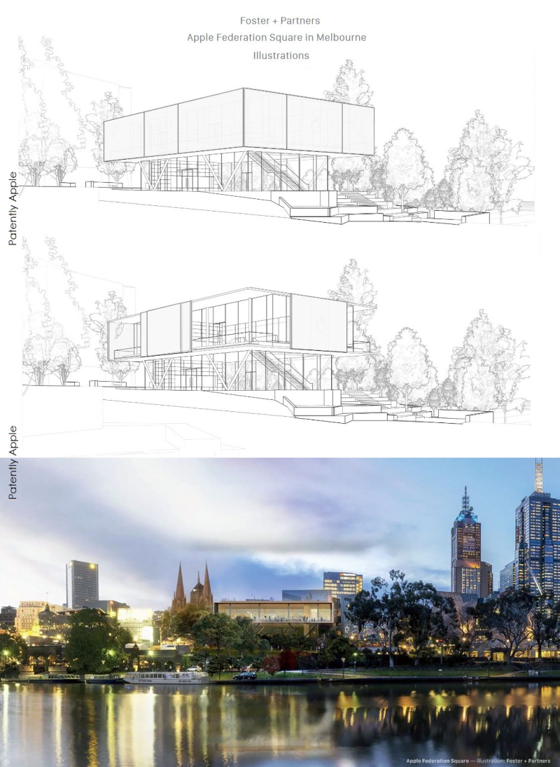 3 X2 Apple's Second design for Melbourne's Fed Square Store