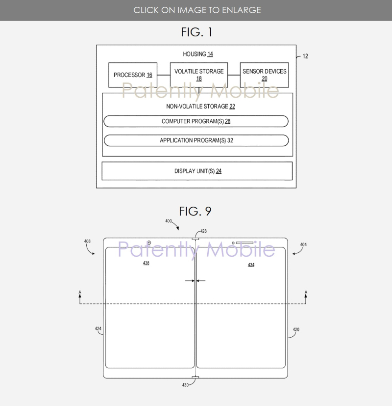 2 msft patent figs 1  9 dual display smartphone