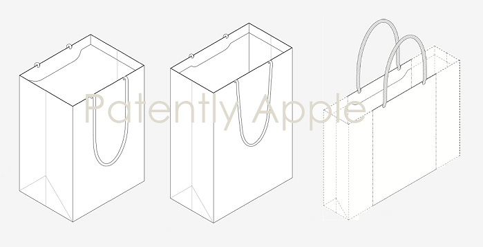 1 cover Apple design patent for Shopping 'bags'