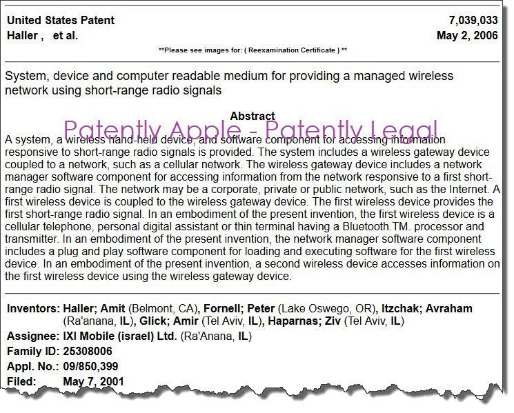 2 F --  IXI MOBILE patent