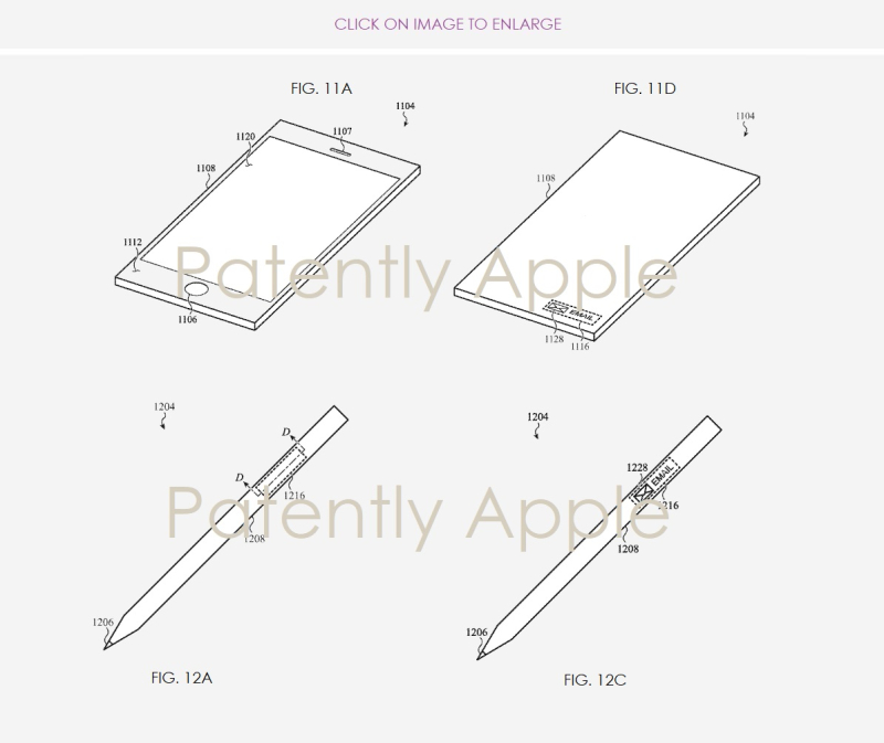 4 microperforated input mechanism for iPhone  Apple Pencil
