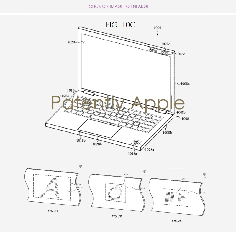 3 MacBook using microperferations + Lighting produces invisible and interchangeable inputs