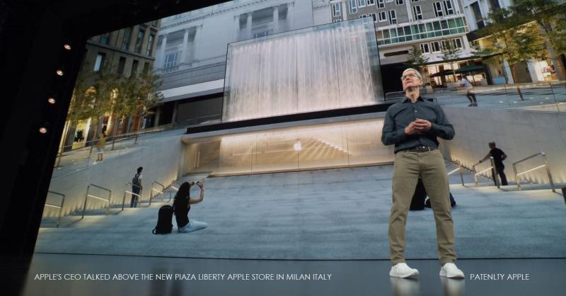 4 x tim cook  apple store in milan