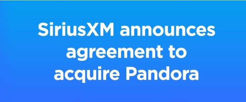 1 X cover SiriusXM  to acquire Pandora