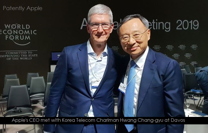1 X Cover - Apple's CEO with KT Chairman Hwang at Davos 2019