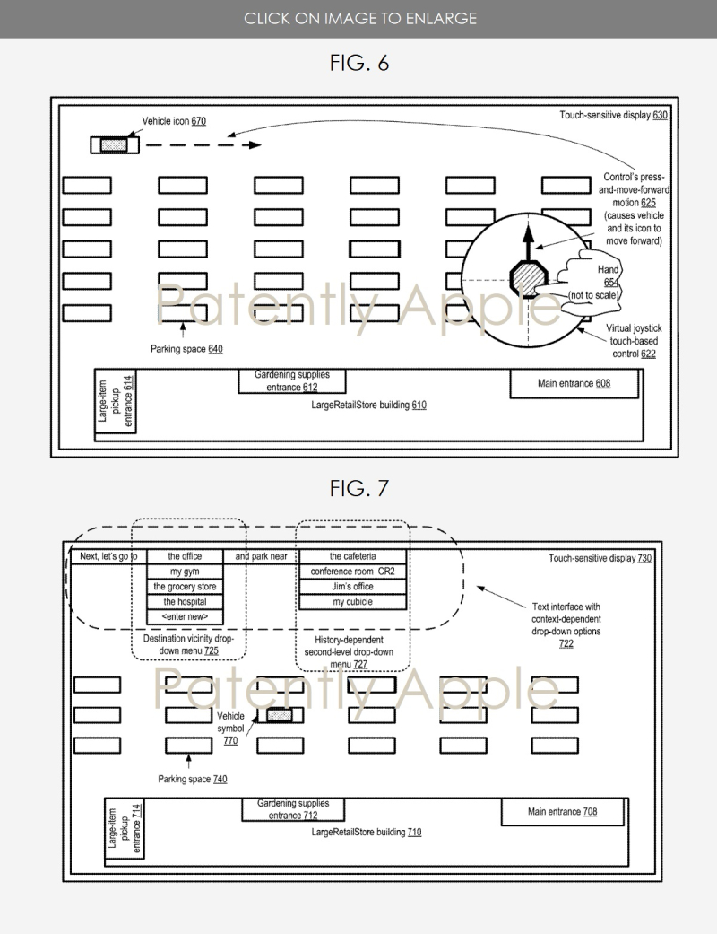 4. Apple's patent figs 6 & 7 Autonomous vehicle  patently apple