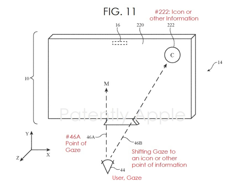 2 - FIG 11 APPLE GAZE CONTROL PATENT