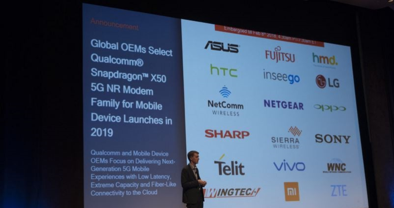 3 Qualcomm signs on 18 OEMS supporting 5G for 2019