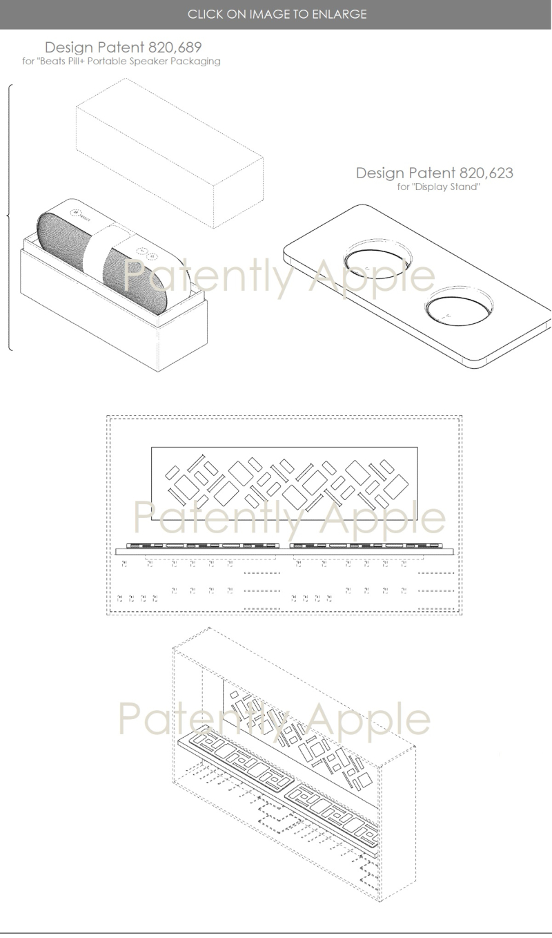 3 design patents  earbuds  Smart Keyboard