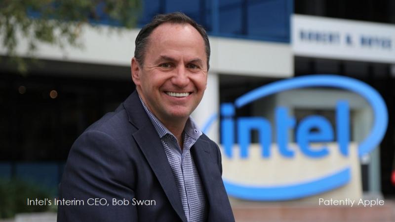 1 x cover Intel Bob Swan