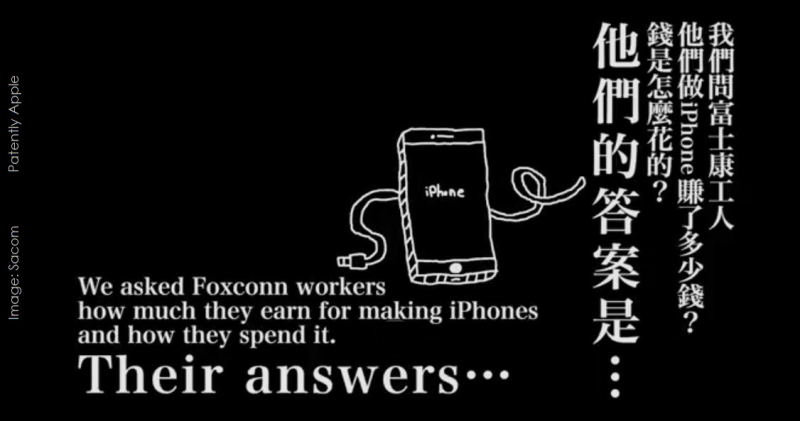 2 Image Sacom  iphone workers at Foxconn