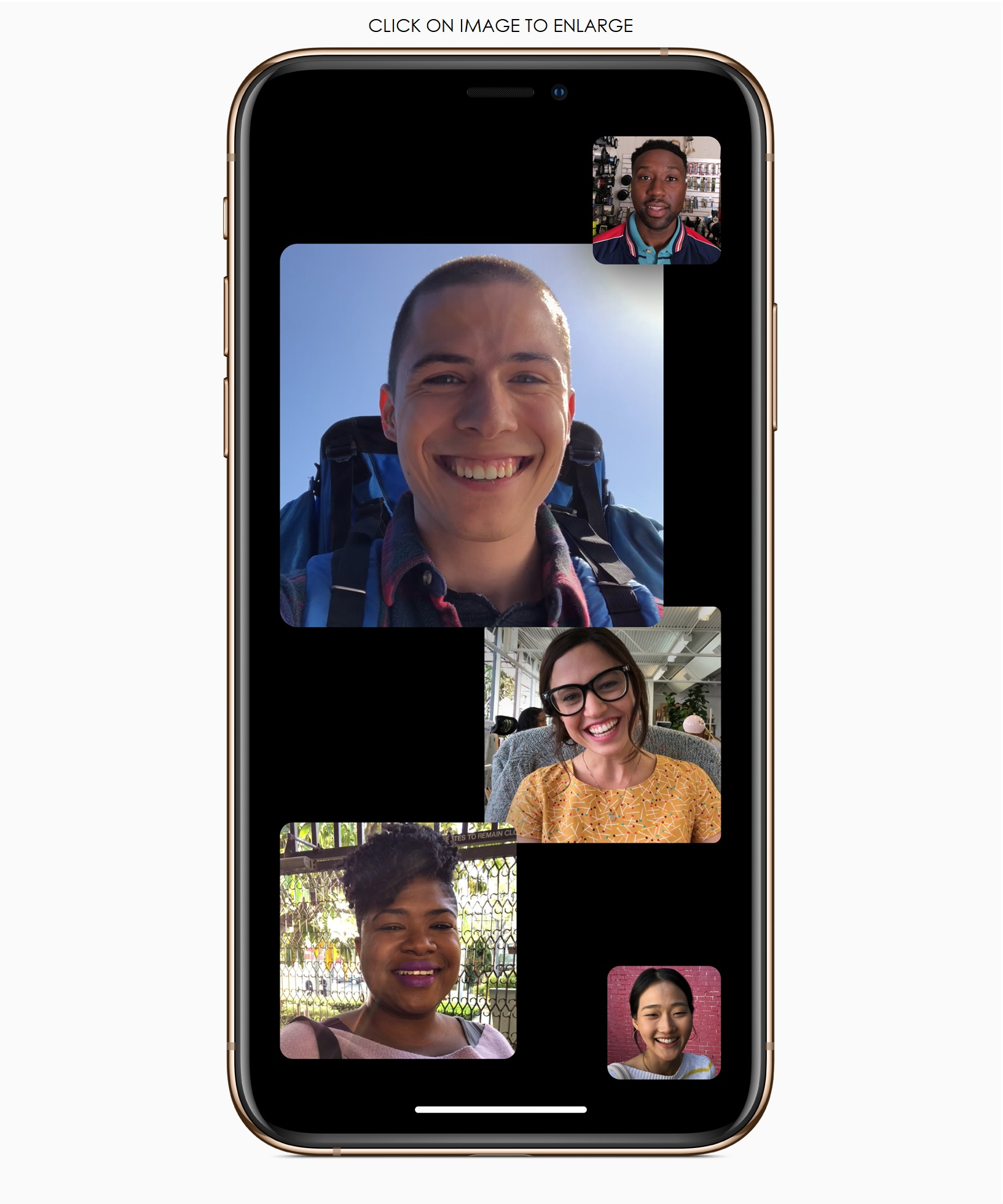 Apple's iOS 12 1 now brings Group FaceTime , Depth Control