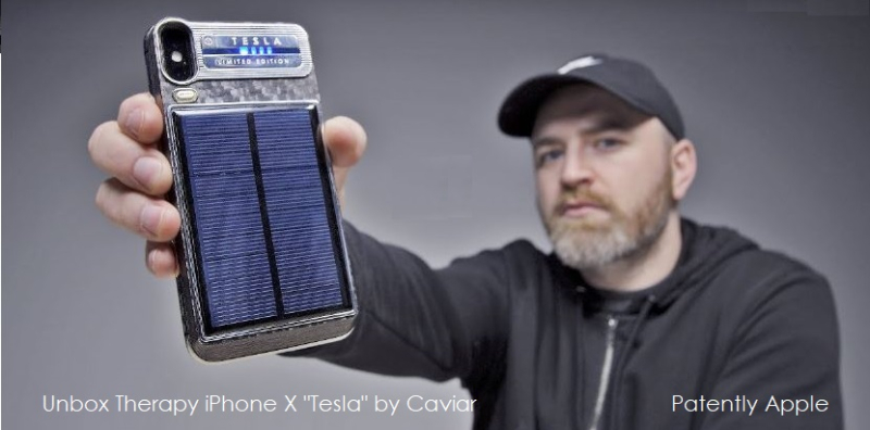 1 x COVER unbox therapy  iPhone x Tesla by Caviar