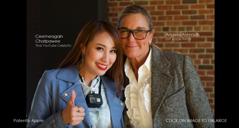 3 x last Angela Ahrendts with Thai YouTuber Ceemeagain Chatpawee