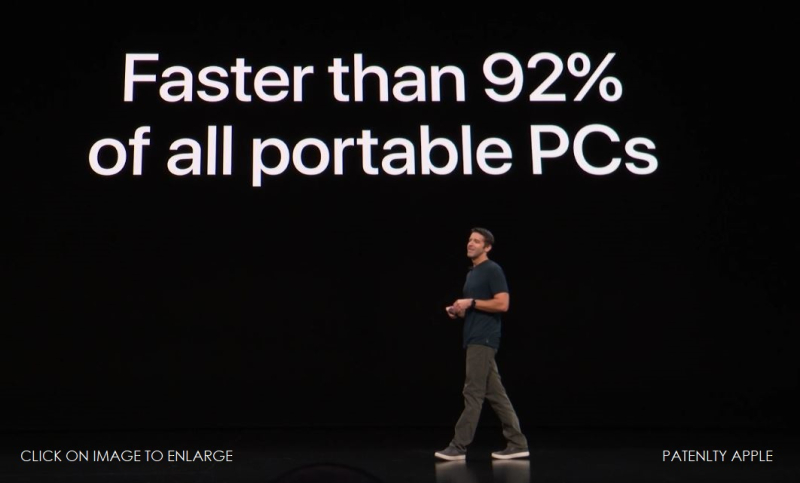 2A IPAD PRO FASTER THAN 92% OF ALL PORTABLE PCs oct 30th 2018 apple event