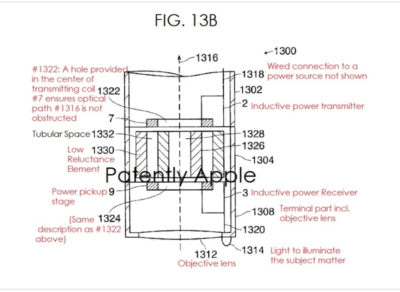 3  X Apple microscope patent fig. 13B