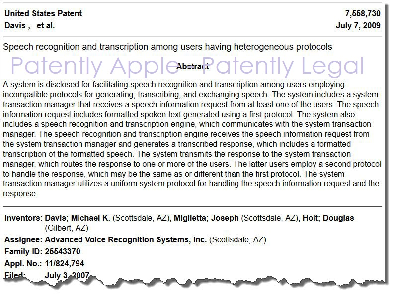 2 X Advanced Voice patent