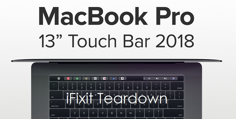 1 X cover iFixit teardown macbook pro 13 inch 2018