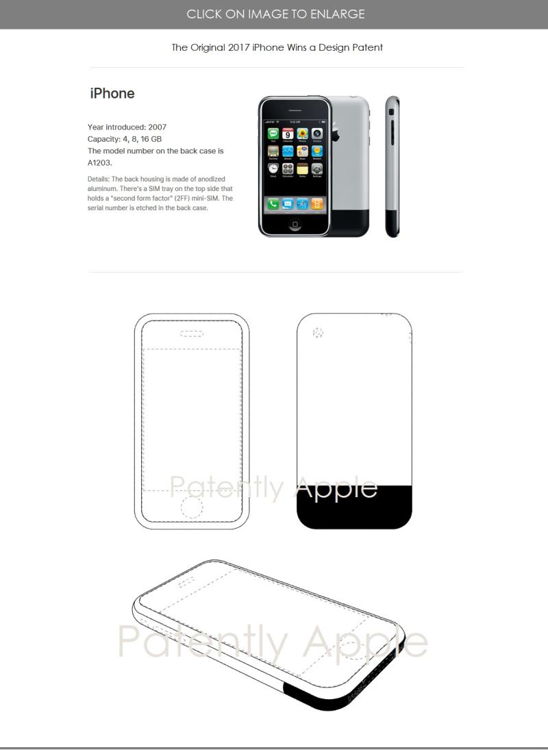 3 X original iPhone wins design patent Nov 2018 - Patently Apple report
