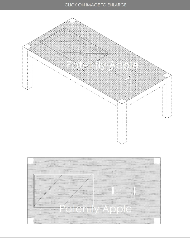 4 X - Apple Design Patent for an Apple Store table for Apple Watches - Nov 2018 - Patently Apple report
