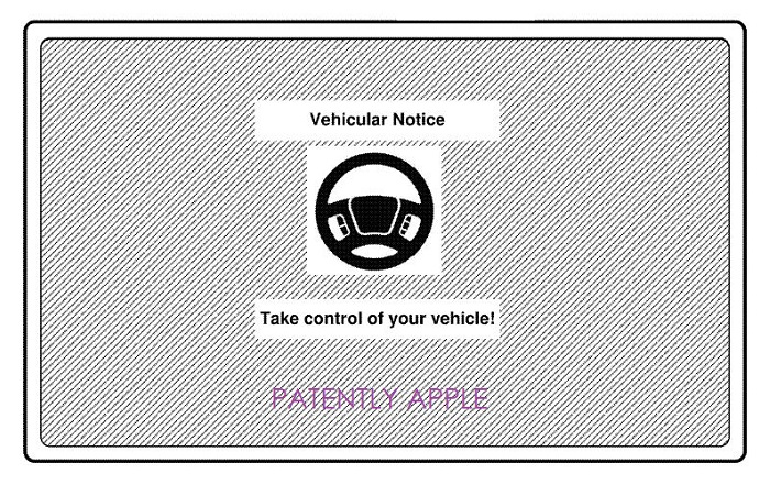 1 X - Cover Take Control of your Vehicle Alert - Apple patent figure  nov 22  2018 - Patently Apple report