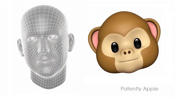 1 X - Animoji image  Jony Ive Mesh  emotion transfer to character