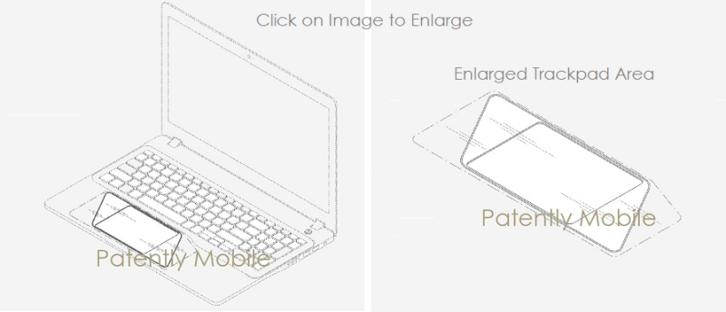 5 samsung design patent for trackpad display