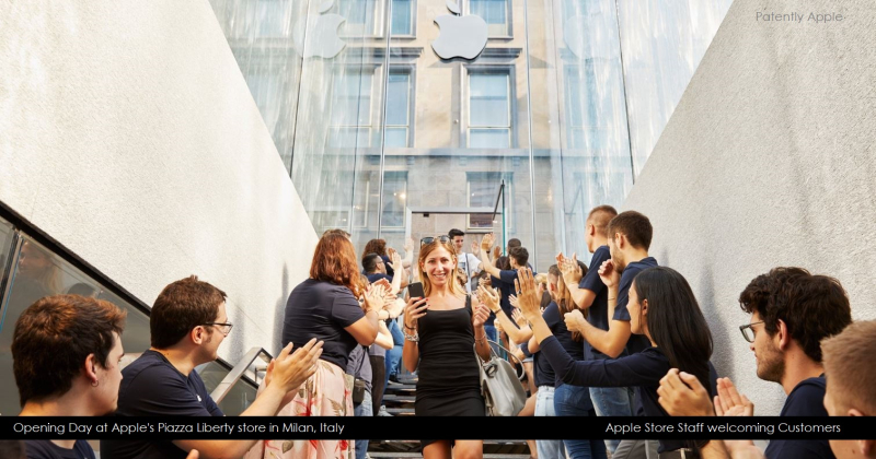 1 X Extra Tim Cook publishes photo of new Milan store opening with staff welcoming customers