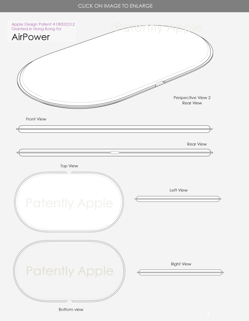 2 AirPower design patent hong Kong july 2018