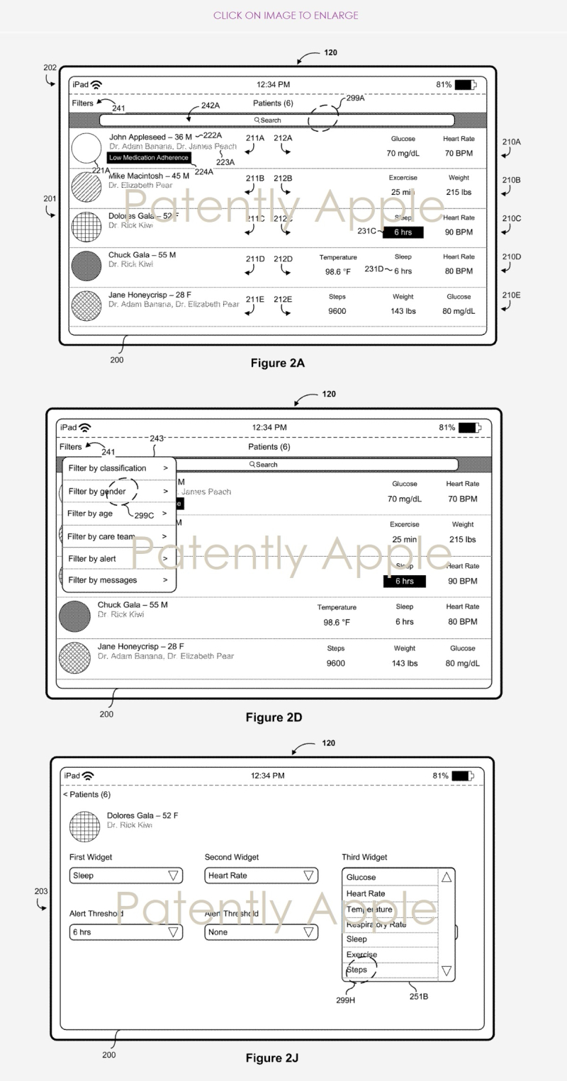 3x series of GUI iPad for health system patent  Patently Apple report Dec 6  2018