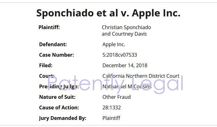 2 class action filed against Apple dec 14  2018