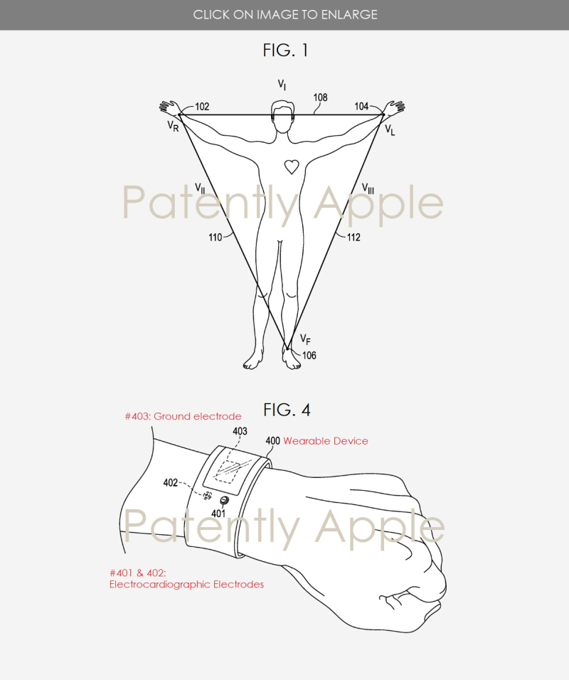 2 Method of detecting the wearing limb of a wearable electronic device patent aug 14  2018 - patently apple report