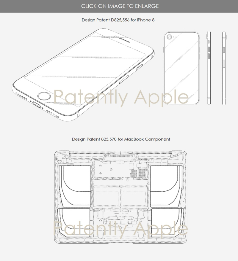 4 design patents for aug 14  2018 - Patently apple report