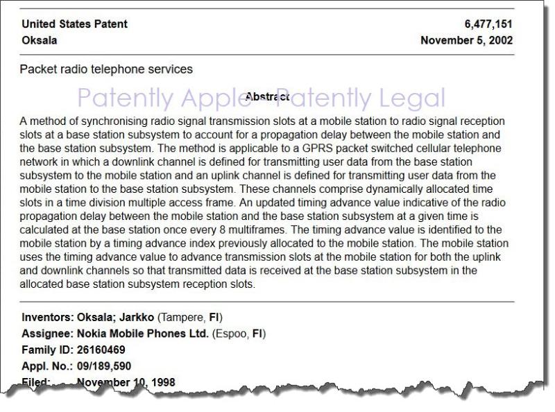 2 X Nokia patent