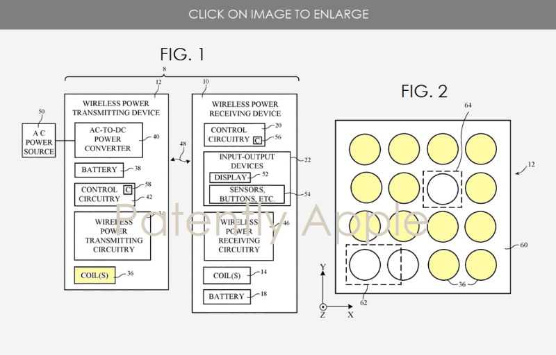 3 APPLE PATENT FIGS 1 & 2 Wireless Charging System With Protection Circuitry   Patently Apple report aug 19  2018