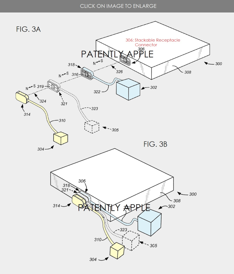 2 Apple patent figures from 2015 about a new magsafe concept