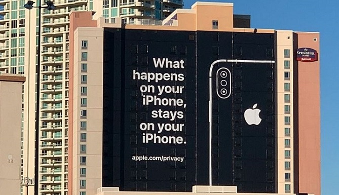 1 X cover apple banner near CES 2019