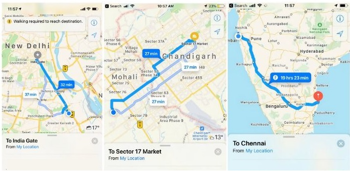 1 X Cover turn-by-turn Maps in major Indian Cities