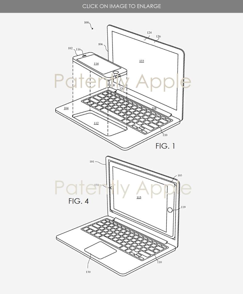 3 accesssory utility patent iphone in macbook-like body  iPad in MacBook-like Body