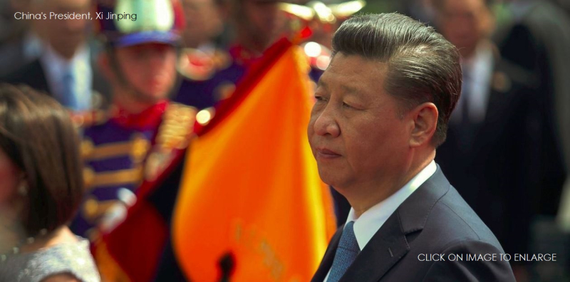 1 x cover China's president