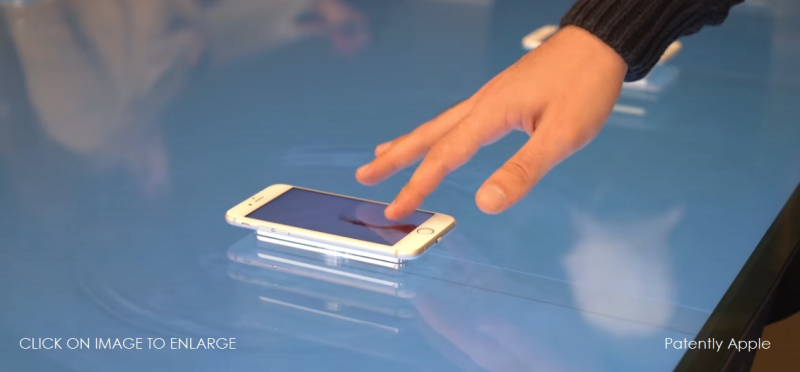 1 x cover graphic  apple granted patent for immersive 3d touch display table for Apple Store