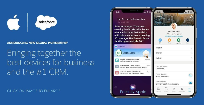1 x Cover SalesForce + Apple Partnership